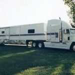 Custom Semi Pulling a Luxury Fifth Wheel