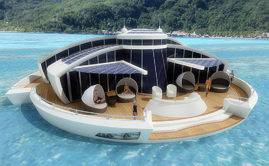 Floating Island Houseboat