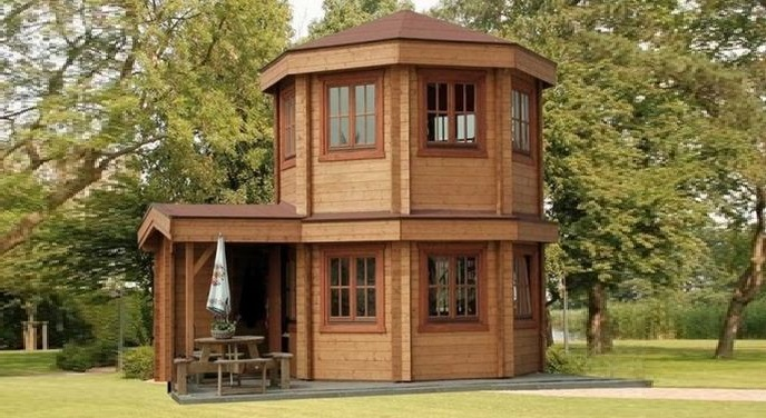 Toulouse Tiny House Log Cabin
