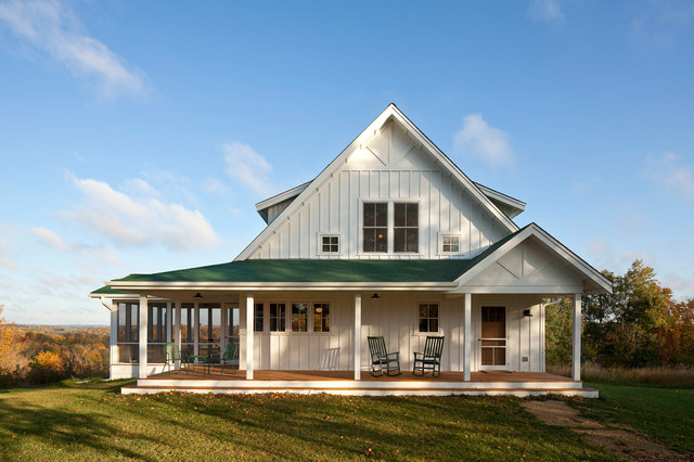 Unique Farmhouse for Mid-Size Family w/ Porch (HQ Plans & Pictures)