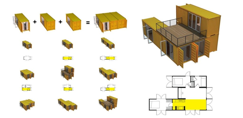 Limitless Possibilities with Shipping Containers, Which Arrangement Would You Choose?