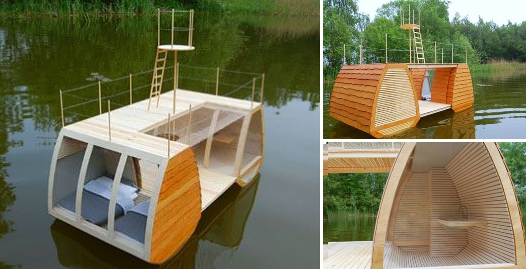 You've Seen Tiny Houses … Now It's a Tiny Personal Houseboat!